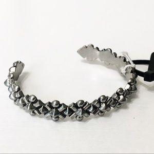 J. Crew • Silver Textured Cuff Bracelet